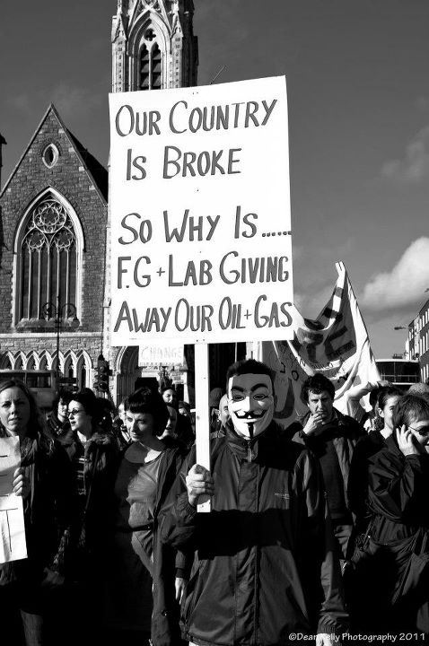 Protest in Mayo