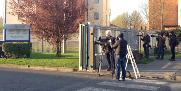 Media outside prison